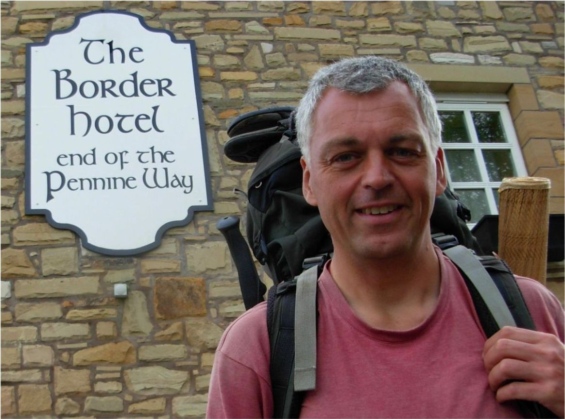 Picture of me at end of Pennine Way